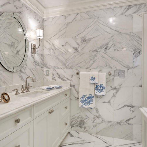 Calacatta Marble Floor and Wall Tile