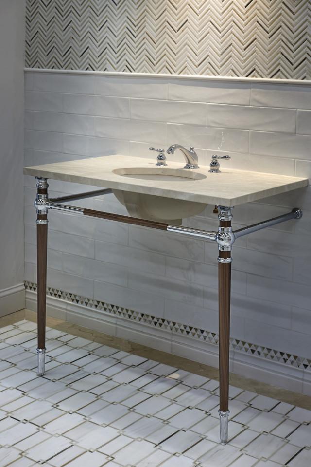Fordham Marble Tile Bathroom countertop