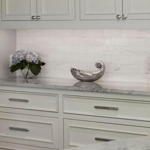 Pearl Dolomite Marble Satin Finish Tile